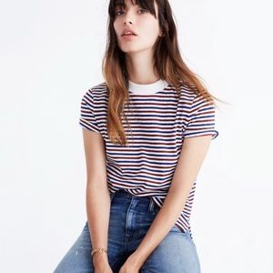 • Madewell • Retro Tee In Stripe New Medium